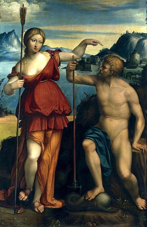https://commons.wikimedia.org/wiki/File:Poseidon_and_Athena_battle_for_control_of_Athens_-_Benvenuto_Tisi_da_Garofalo_(1512).jpg